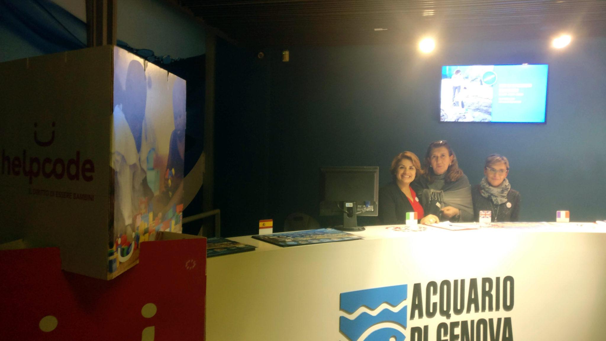 Accoglienza desk Acquario Genova