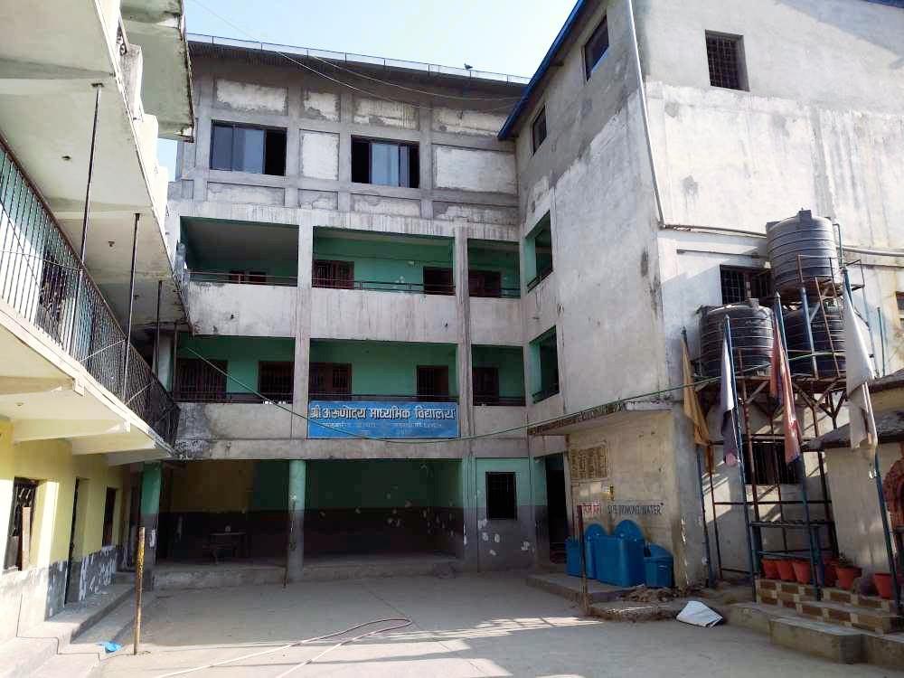 una scuola media in Nepal