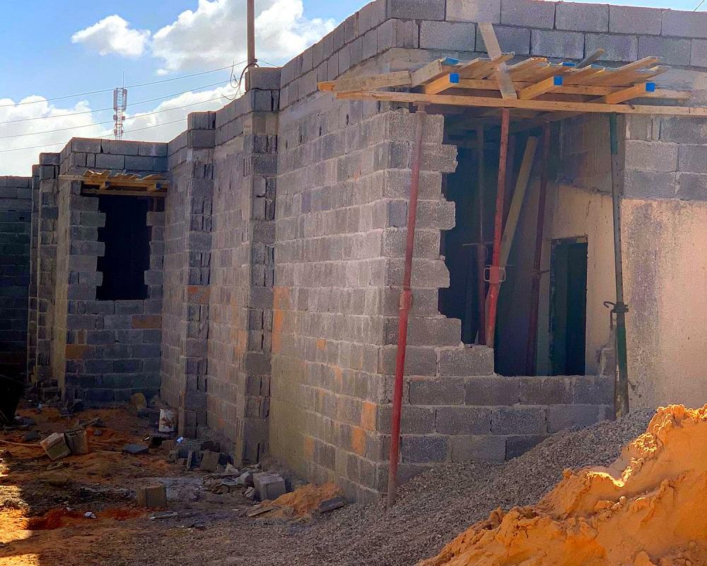 i lavori a un centro di detenzioni in Libia