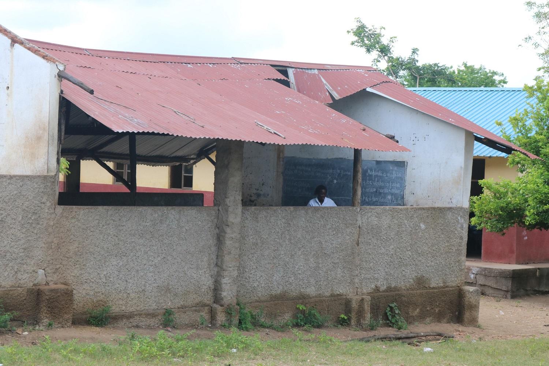 La scuola di Pungwe dopo il passaggio del ciclone Idai