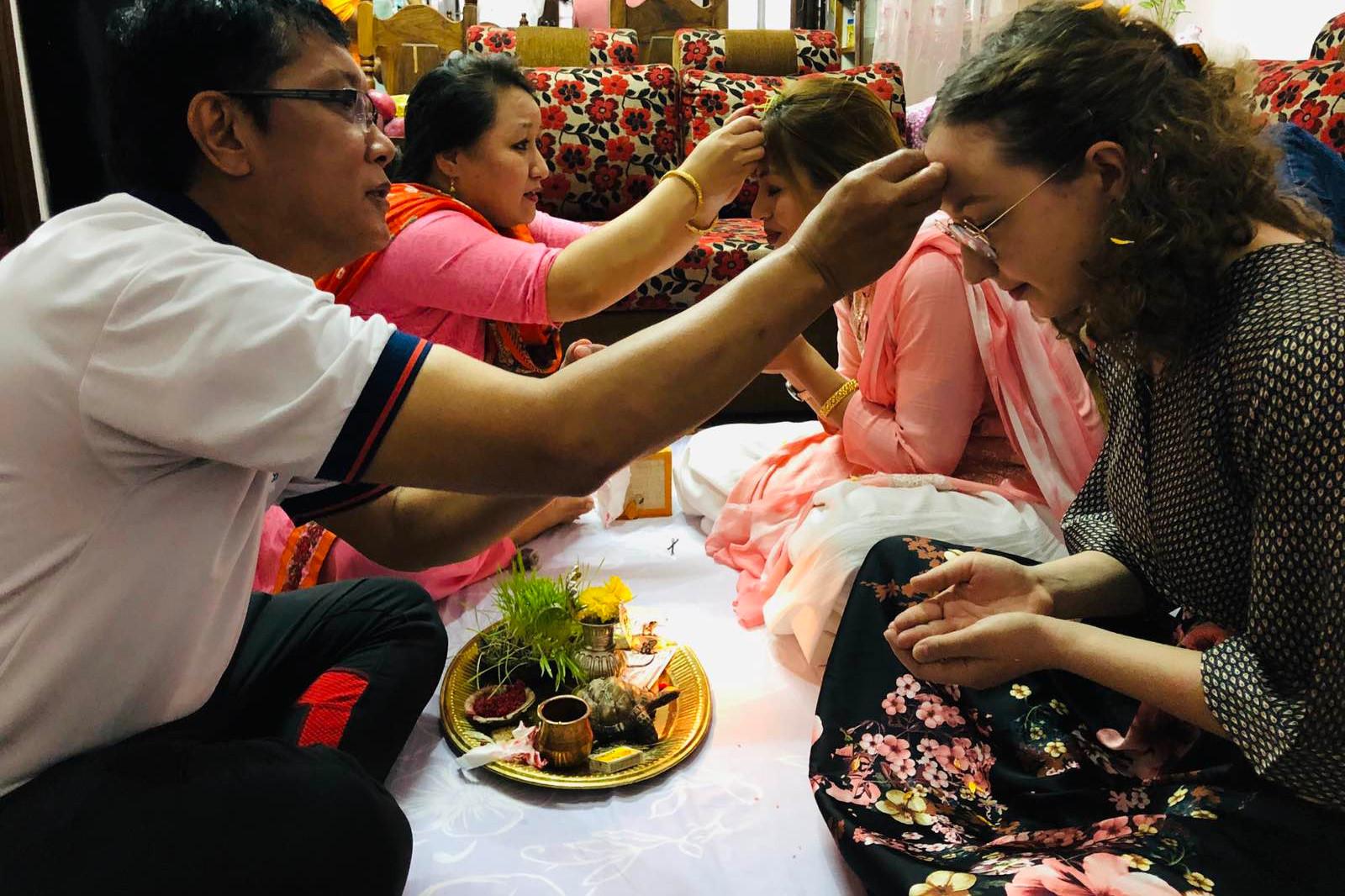 Un momento di una cerimonia nepalese