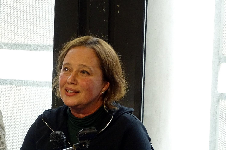 Daniela Ottria, responsabile ufficio scuole del Teatro della Tosse, durante la conferenza stampa di presentazione della stagione 2019/2020.