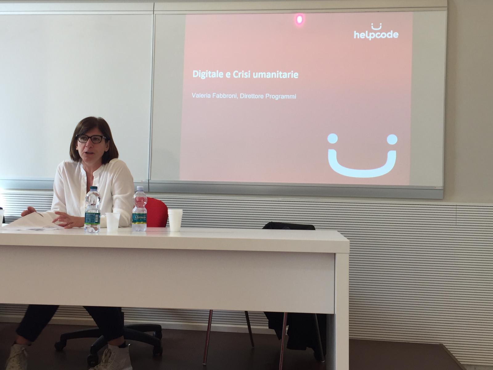 Valeria Fabbroni durante il Digitalmeet