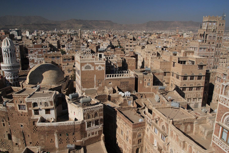Veduta di Sana'a, la capitale dello Yemen